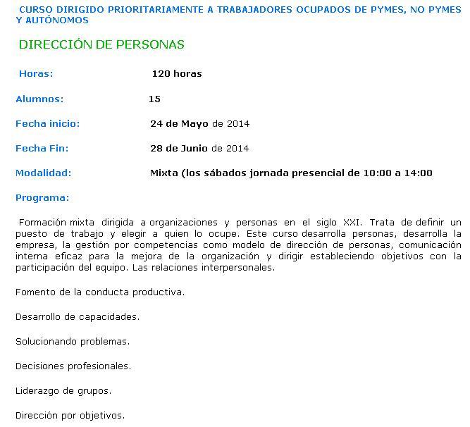 Curso subvencionado empleo en cantabria for Oficina virtual fpe acciones formativas para personas desempleadas